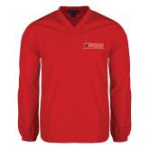 V Neck Red Raglan Windshirt-SWAC