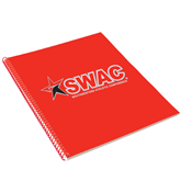 College Spiral Notebook w/Red Coil-SWAC