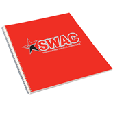College Spiral Notebook w/Clear Coil-SWAC