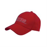 Red Heavyweight Twill Pro Style Hat-SWAC