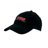 Black Twill Unstructured Low Profile Hat-SWAC