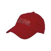 Red Twill Unstructured Low Profile Hat-SWAC