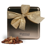 Deluxe Nut Medley Gold Medium Tin-SWAC Engraved