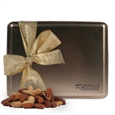 Deluxe Nut Medley Gold Large Tin-SWAC Engraved