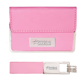 Business Card Case and Key Ring Set Pink-SWAC Engraved