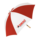 62 Inch Red/White Vented Umbrella-SWAC