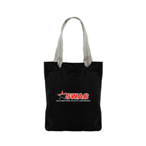 Allie Black Canvas Tote-SWAC