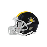 Riddell Replica Black Mini Helmet-Interlocking SU w/Sabers