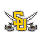 Small Decal-Interlocking SU w/Sabers, 6 inches wide