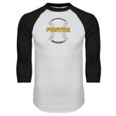 White/Black Raglan Baseball T-Shirt-Pirates Baseball w/ Seams