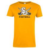 Ladies Gold T Shirt-Football