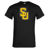 Black T Shirt-Interlocking SU