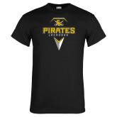 Black T Shirt-Geometric Lacrosse Head
