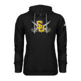 Adidas Climawarm Black Team Issue Hoodie-Interlocking SU w/Sabers