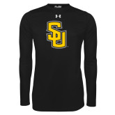 Under Armour Black Long Sleeve Tech Tee-Interlocking SU