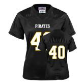 Ladies Black Replica Football Jersey-#40