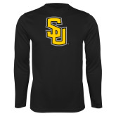 Performance Black Longsleeve Shirt-Interlocking SU