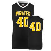 Replica Black Adult Basketball Jersey-#40