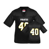Youth Replica Black Football Jersey-#40
