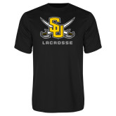 Performance Black Tee-Lacrosse