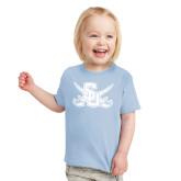 Toddler Light Blue T Shirt-Interlocking SU w/Sabers