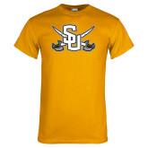 Gold T Shirt-Interlocking SU w/Sabers