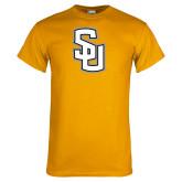 Gold T Shirt-Interlocking SU