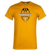 Gold T Shirt-Pirates Football Vertical