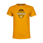 Youth Gold T Shirt-Pirates Football Vertical