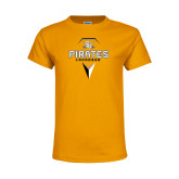 Youth Gold T Shirt-Geometric Lacrosse Head
