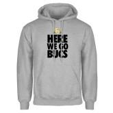 Grey Fleece Hood-Here We Go Bucs