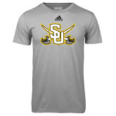 Adidas Climalite Sport Grey Ultimate Performance Tee-Interlocking SU w/Sabers