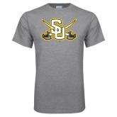 Grey T Shirt-Interlocking SU w/Sabers