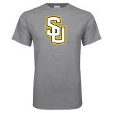 Grey T Shirt-Interlocking SU