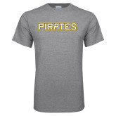 Grey T Shirt-Pirates Word Mark