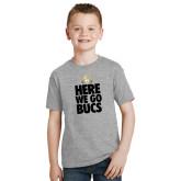 Youth Grey T-Shirt-Here We Go Bucs
