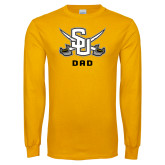 Gold Long Sleeve T Shirt-Dad