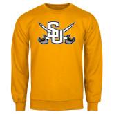 Gold Fleece Crew-Interlocking SU w/Sabers