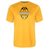 Performance Gold Tee-Pirates Football Vertical
