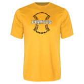 Performance Gold Tee-Pirates Baseball w/ Seams