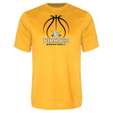 Performance Gold Tee-Pirates Basketball Stacked