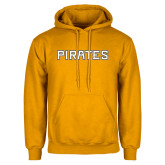 Gold Fleece Hood-Pirates Word Mark