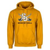 Gold Fleece Hood-Basketball