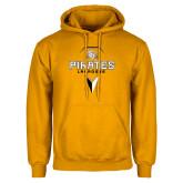 Gold Fleece Hoodie-Geometric Lacrosse Head