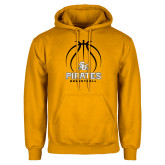Gold Fleece Hoodie-Pirates Basketball Stacked