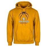 Gold Fleece Hoodie-Pirates Basketball Stacked