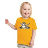 Toddler Gold T Shirt-Interlocking SU w/Sabers