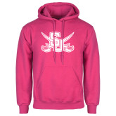 Fuchsia Fleece Hoodie-Interlocking SU w/Sabers