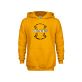 Youth Gold Fleece Hoodie-Pirates Baseball w/ Seams