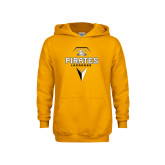 Youth Gold Fleece Hoodie-Geometric Lacrosse Head